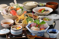三陸海鮮鍋+三陸さしみ付夕食