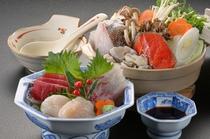 三陸海鮮鍋+三陸さしみ単品