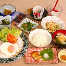 【朝食】朝から牛タン+三陸刺身で贅沢!