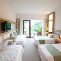 *デラックスガーデンビュー/窓の外には美しい緑の庭が広がるお部屋タイプ。
