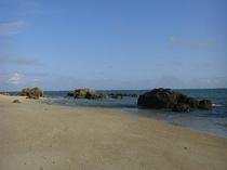 ペンション前のビーチ