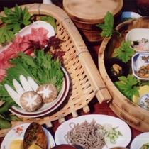 夕食一例(コース料理・全10品)
