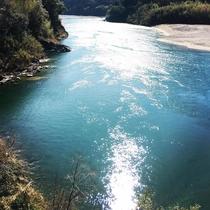 美しく輝く仁淀川