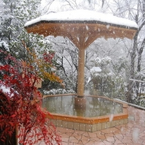 絶景!雪見の庭園露天風呂