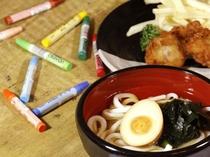 <ランチ>お子様うどん 鶏唐揚・ポテト付