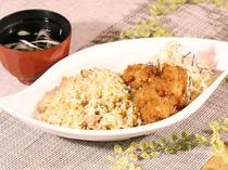 <ランチ>チャーハン 鶏唐揚げセット 中華スープ付