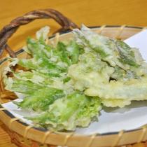 【夕食一例】旬の食材を天婦羅でどうぞ!