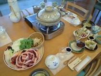 天然ぼたん鍋コース例