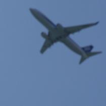 客室からは飛行機がよく見えます