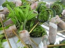 山菜と郷土色