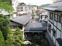 吾妻荘と温泉街