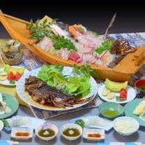 女将が作るヒシ鯛の甘露煮★舟盛料理プラン