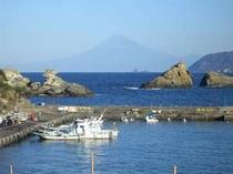 雲見大橋から見た富士山