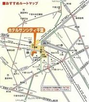 JR千葉駅西口改札より徒歩約1分。改札を出て左側へ