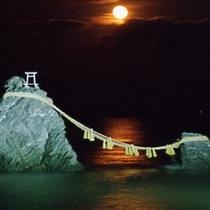 夫婦岩(ライトアップ)