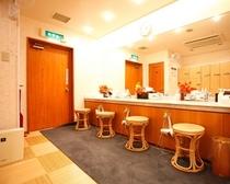 女性大浴場 化粧室