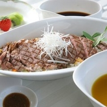ひしおステーキ丼■小豆島B級グルメ☆醤(ひしお)丼 オリビアンオリジナルひしおステーキ丼