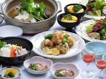 スッポンコース料理(魚三昧)