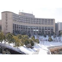 ホテル外観 雪景色