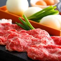 淡路牛と松茸のすき焼きは特製割り下で頂く秋ならではの期間限定人気メニュー≪料理イメージ≫