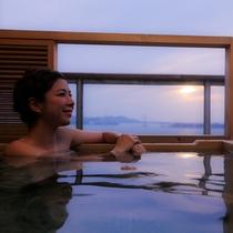 あなただけの専有露天風呂とテラスを有する特別客室【別邸 蒼空<天空>】※画像はTypeAとなります