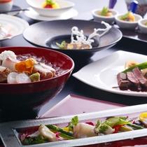 和食とフレンチが融合したプラザ淡路島ならではの和洋会席≪料理イメージ≫