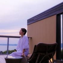 【別邸 蒼空<離れ>2012年8月グランドオープン】あなただけの専有露天風呂とテラスを有する特別客室