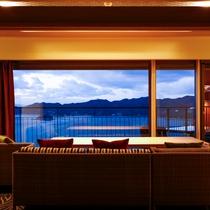 テラスの岬に配した露天風呂が魅力の「別邸 蒼空<天空>TypeD」2014年12月グランドオープン