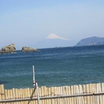 雲見から望む富士山!全体が見えるのが雲見の特徴なんですよ♪
