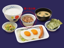 「松屋」食券付き☆ソーセージエッグW定食