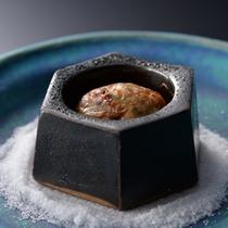 夕食一例〜変鉢・岩魚のなめろう焼き