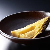 夕食一例〜焼肴・焼き筍