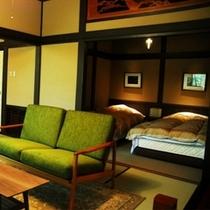 【山荘・瑠璃8】歴史的建築に現代の息吹を吹き込んだ 新客室「瑠璃8」