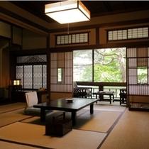 【登録有形文化財・山荘角部屋】かつて文豪や政治家が宿泊した由緒正しいお部屋もございます