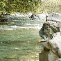 新湯川と日向見川が合流した川 ≪一級河川 四万川≫