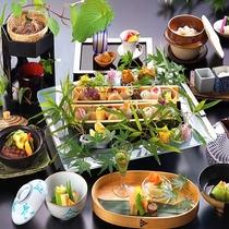 夏の食彩 《山の恵み×海の恵み》 国産和牛ヒレ肉と日本海の幸堪能会席