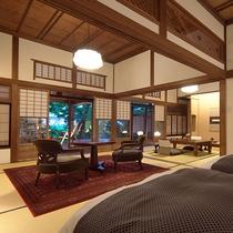 【山荘】源泉かけ流し露天風呂付・和洋室