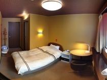シングルルームでもゆったりサイズのお部屋でリラックス。