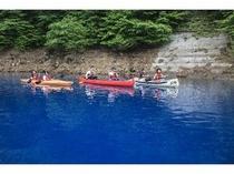 四万湖カヌー体験④