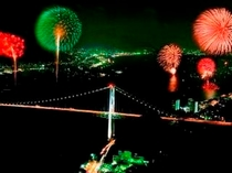 関門海峡花火大会 JRで15分