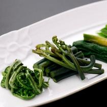 山菜の盛り合わせ