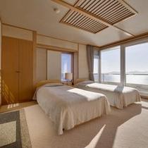 [眺涛閣特別室 ベッドルーム
