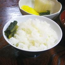 *夕食一例/人気の自家栽培のお米☆きれいなお水で育ったお米は旨みた~っぷり!