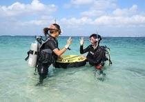 2泊3日以上滞在で国際ダイビングライセンス取得をしたい方にはダイビング講習18,000円/2日間コース〜