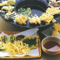 *【夕食一例】しろうおの天ぷら