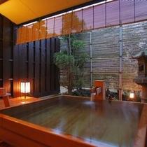 【貸切露天風呂 貫一の湯】源泉かけ流しの貸切風呂
