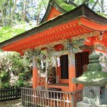 熊野高原神社祠に到着♪中辺路のパワースポットです。