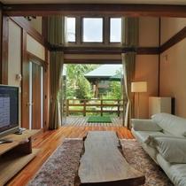 【客室/104】窓から望む霧降高原の森が静寂な雰囲気を醸し出します