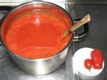 トマトケチャップ作り  ★宿で栽培のトマト2品種ブレンド★