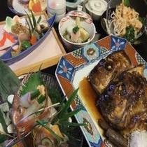 【端午の節句】季節のお料理鯛の兜煮付き♪